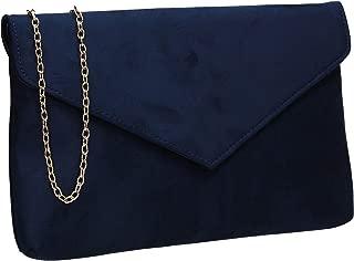 Rosa Faux Suede Slim Envelope Clutch Bag