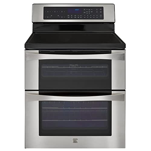 Kenmore Elite 6.7 cu. ft. Self Clean Electric Double Oven Range in Stainless Steel