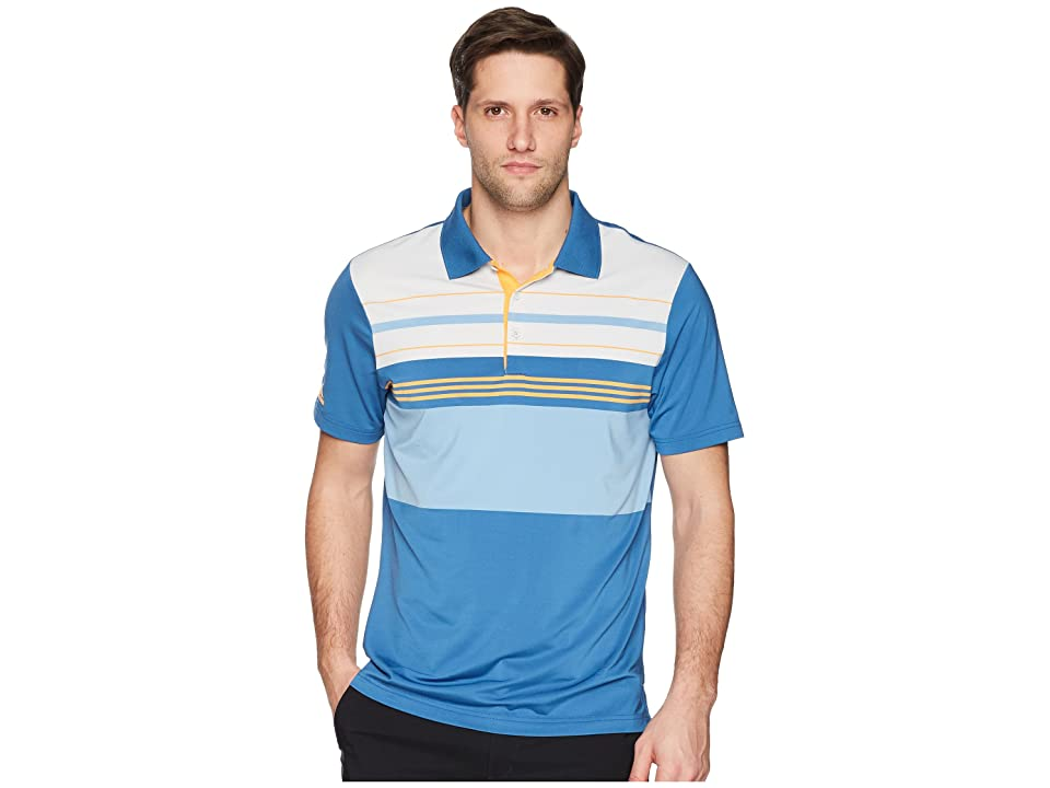 adidas Golf Ultimate Engineered Blocked Polo (Trace Royal/Real Gold) Men