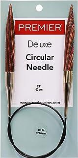 Premier Yarns Aiguilles à Tricoter circulaires Fixes 61 cm Taille 17/12 mm