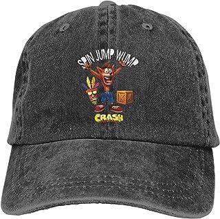 Crash Bandicoot Baseball Cap Comfortable Retro Hat Adjustable Dad Hat Outdoor Sports Cowboy Hat