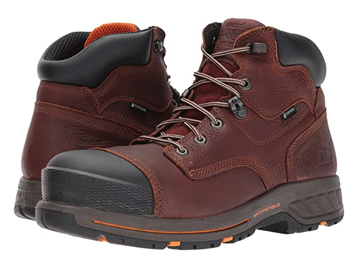 Timberland PRO  Helix 6 HD Composite Safety Toe Waterproof BR (Tempest Full Grain Leather) Mens Work Lace-up Boots