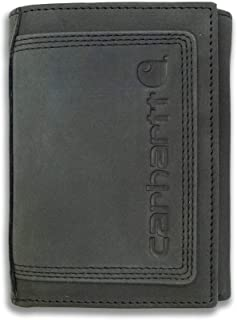 Carhartt Men's Top Grain Leather Trifold, Contrasting Stitch