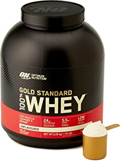 Optimum Nutrition 100% Whey Gold Standard, Unflavoured, 5lbs