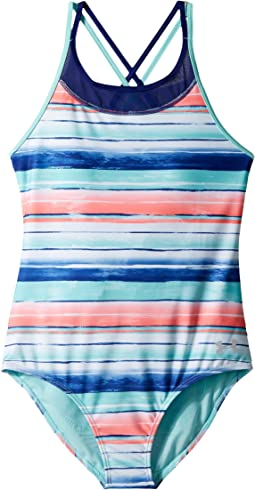 Water Stripe One-Piece (Big Kids)