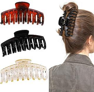 NASHRIO Big Claw Hair Clips , 3pcs Jumbo Hair Clips Strong Hold Jaw Hair Clips Hair Catch Barrette Large Clips Hair Stylin...