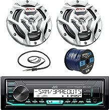 JVC KDX33MBS Marine Boat Yacht Radio Stereo CD Player Receiver Bundle Combo with 2X JVC CS-DR6201MW 300-Watt 6.5