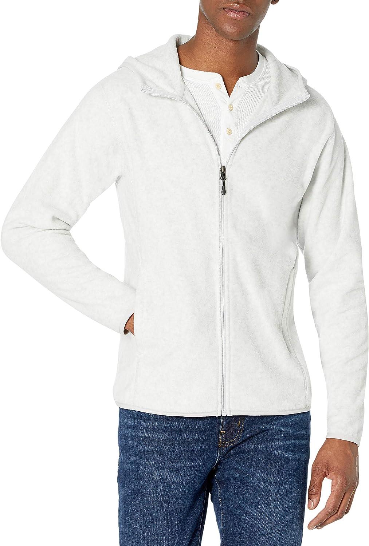 Amazon Essentials Men's Long-Sleeve Hooded Full-Zip Polar Fleece Jacket