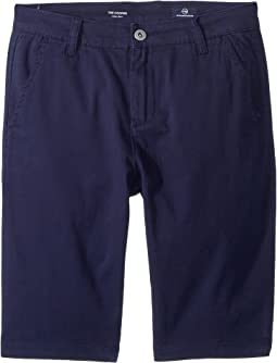 AG Adriano Goldschmied Kids The Cooper Sueded Twill Chino Shorts (Big Kids)