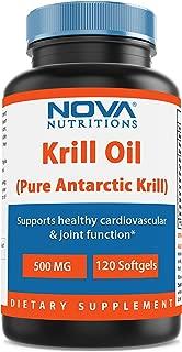 Nova Nutritions Krill Oil 500 mg 120 Softgels
