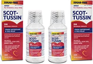 Scot-Tussin DM Cough Syrup with Chlorpheniramine Maleate, Alcohol-Free, Sugar-Free Cough Suppressant for Fast Cold Relief, 4oz Pack of 2