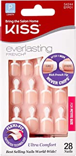 KISS Everlasting French Glue-On Nails Kit, Petite Length 28 nails ea (Pack of 2)