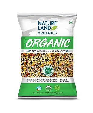Natureland Organics Panchrangi Dal / Mix Dal 1 Kg - Organic Healthy Pulses