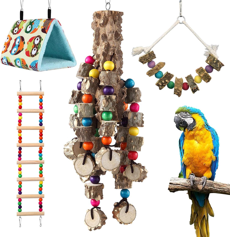 DOHAOOE Natural Ranking TOP13 Large Regular store Bird Toys DIY Interac for Parrot Handheld