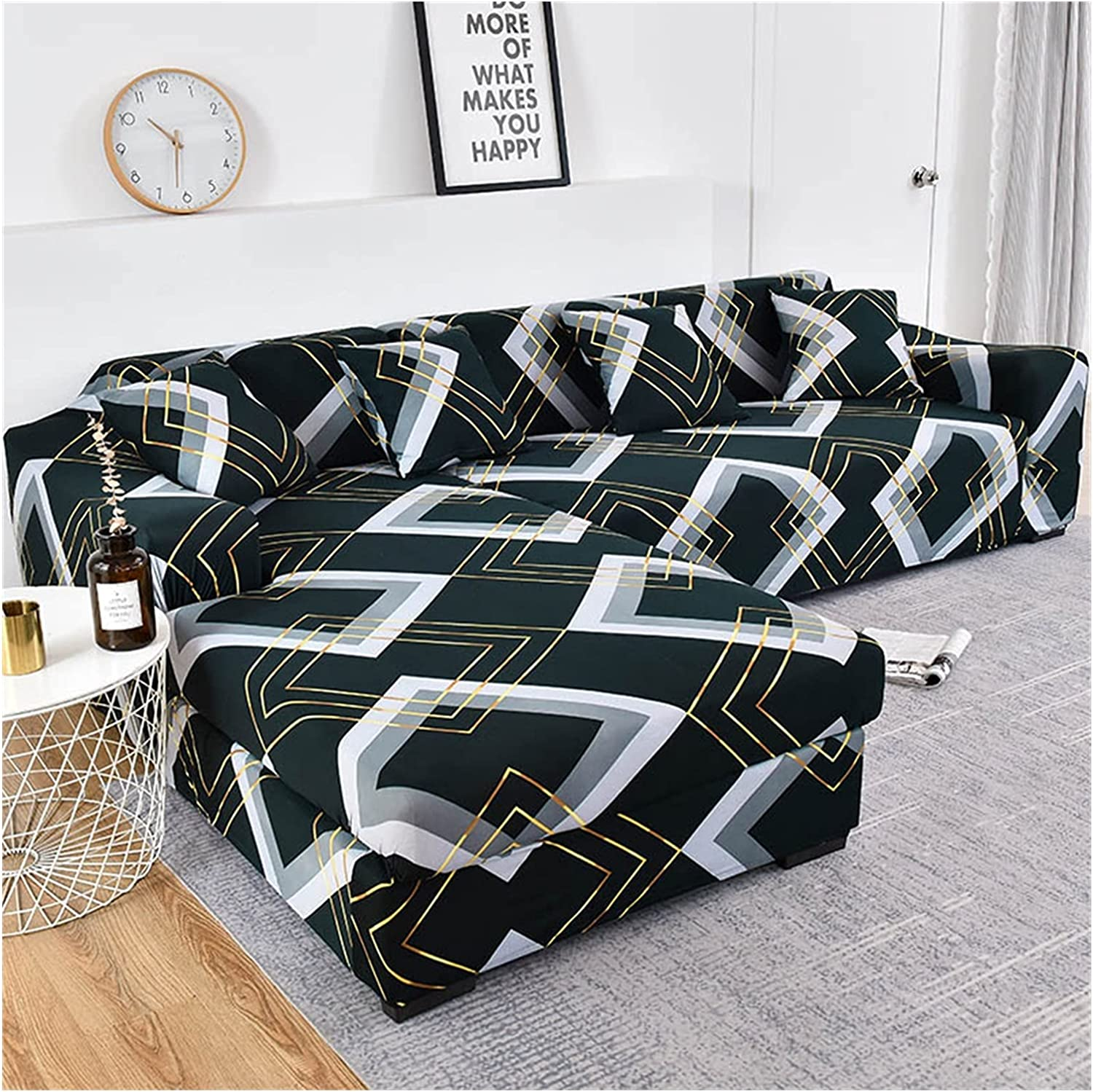 JDKJ Sofa Cover Geometric Award-winning store Elastic 2021 autumn and winter new Couch Liv for