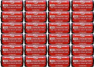 Surefire SF123A Box of 24 123A 3 Volt Lithium Batteries 24-Pack