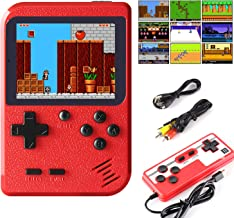 JAMSWALL Handheld Game Console, Retro Mini Game Player with 400 Classical FC Games 2.8-Inch Color Screen Support for Conne...