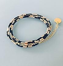 Miyuki Bracciale convertibile collana, bracciale donna MultiRank perline, Bracciale in oro, idea regalo, Bracciale in oro,...