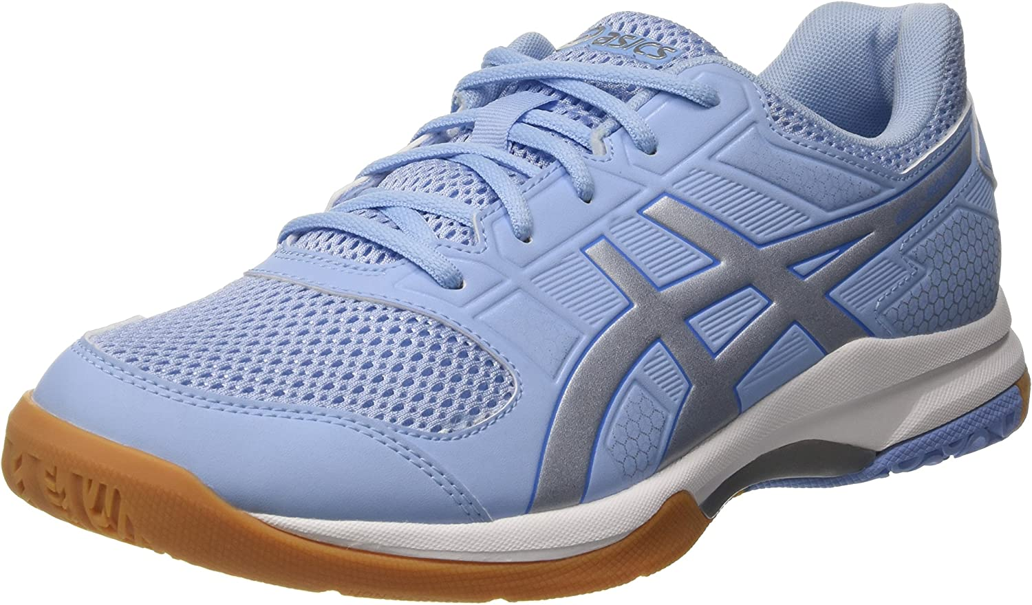 Asics - Gelrocket 8 3993 Womens - color  White-Silver-Light bluee - Size  10.5US