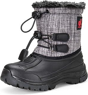 DREAM KIDS Boys Snow Boots Outdoor Waterproof Cold Weather WinterBootsfor Girls(Toddler/Little Kid/Big Kid)