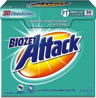 Biozet Attack Regular Laundry Powder Detergent, 2 kilograms