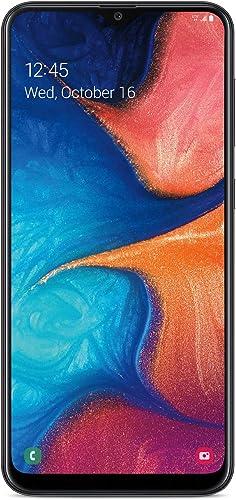 TracFone Samsung Galaxy A20 4G LTE Prepaid Smartphone (Locked) - Black - 32GB - Sim Card Included - CDMA