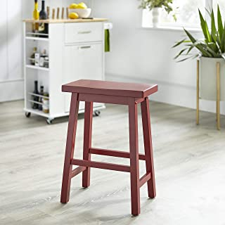 Target Marketing Systems 24-Inch Arizona Wooden Saddle Stool, Red