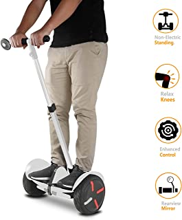 AUBESTKER Handlebars Kit for Segway MiniPRO Ninebot S MiniLITE, Relieve Knee Pressure Speed Control Non-Electric Balancing Rearview Mirror, Upgrade Accessories for Safety Segway | Fun Segway