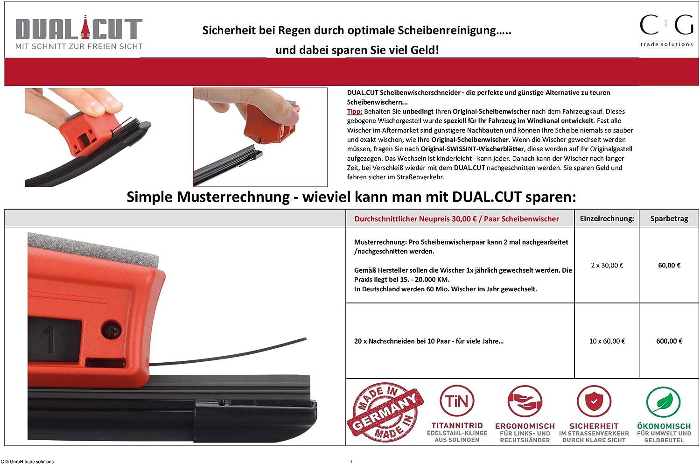 DIY Smart Repair and Car Accessories Wiper Blades Repair Quick and Easy DUAL.CUT 727 Windscreen Wiper Re-Cutter Car Windscreen Wiper Cutter
