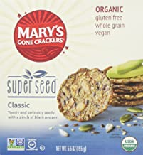Mary's Gone Crackers Organic Super Seed, 5.5 oz (Pack of 3) Gluten Free