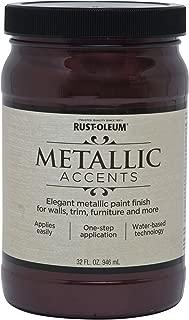 Rust-Oleum 253609 Metallic Accents Paint, Quart, Black Garnet
