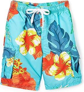 Kanu Surf Boys' Papagayo Floral Swim Trunk