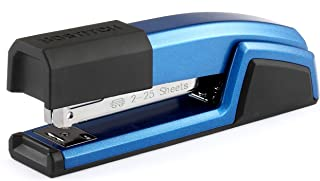 Bostitch Epic All Metal 3 in 1 Stapler with Integrated Remover & Staple Storage, Blue (B777-BLUE)
