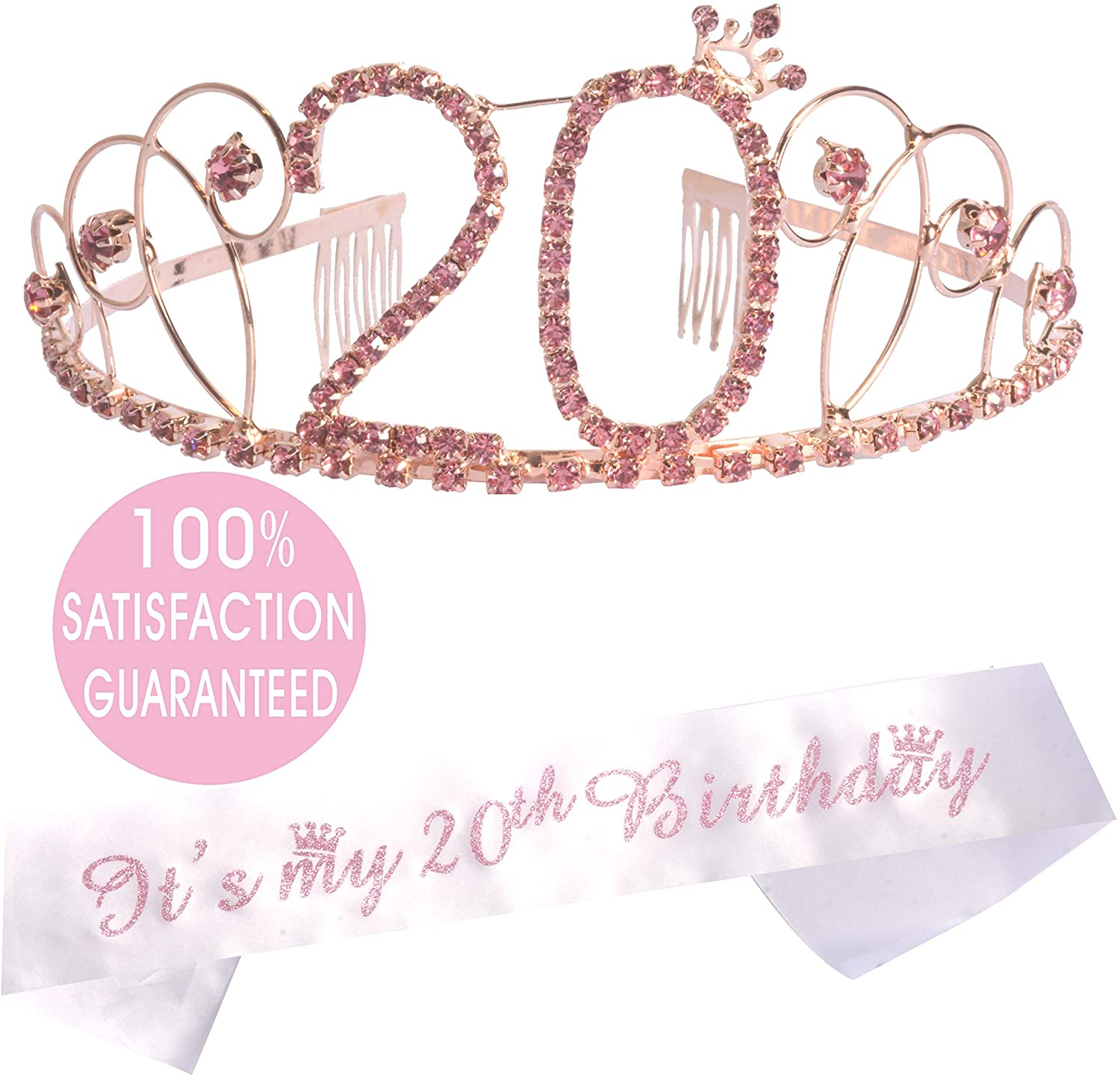 Amazon.com 20th Birthday Gifts for Girl, 20th Birthday Tiara and ...