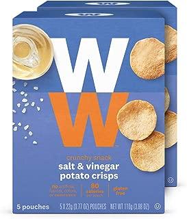 WW Salt and Vinegar Potato Crisps - Gluten-free, 2 SmartPoints - 2 Boxes (10 Count Total) - Weight Watchers Reimagined