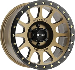 Method Race Wheels MR305 NV BRONZE Wheel with Method Black Street LOC and Zinc Plated Accent Bolts (0 x 8.5 inches /6 x 135 mm, 0 mm Offset)