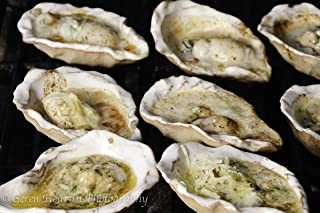 Loftin Oysters Ceramic Reusable Chargrilling, Cooking Oyster Shells, set of 12. Great for all Seafood. Made in U.S.A.