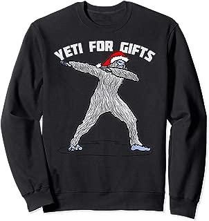 Dabbing Bigfoot Abominable Snowman Shirt Art-Funny Yeti Sweatshirt