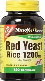 Mason Vitamins Red Yeast Rice 1200 mg Capsules, 120 Count