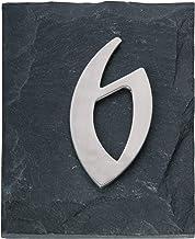 """Esschert huisnummer """"6"""", grijs, HS006"""