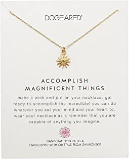 Accomplish Magnificent Things, Starburst w/ Swarovski Crystal Necklace