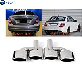Fedar Fits Mercedes-Benz W204 C-Class Stainless Steel Exhaust Pipe/Tip