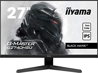 iiyama G MASTER Black Hawk G2740HSU B1 68.6 cm (27') IPS LED Gaming Monitor Full HD (HDMI, DisplayPort, USB 2.0) 1ms Reaktionszeit, FreeSync, schwarz
