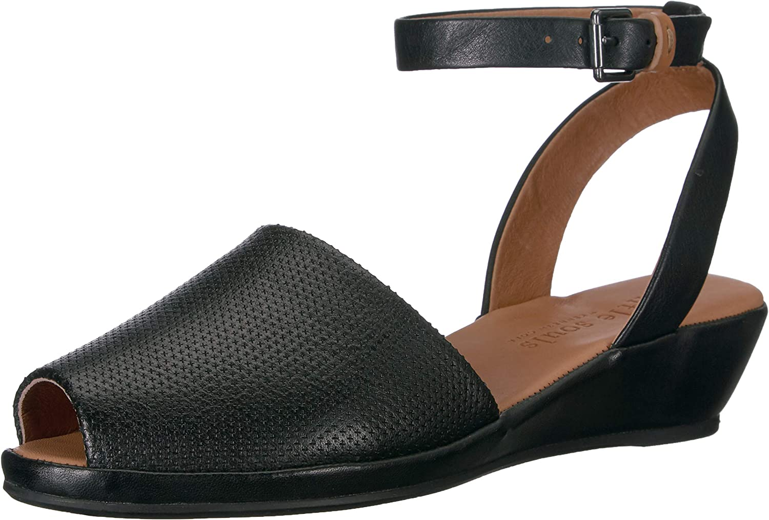 Gentle Souls Womens Lily Ankle Wrap 2 Low Wedge Sandal Wedge Sandal