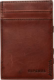 Rip Curl Men's Handcrafted Magic Leather Wallet Mesh Brown