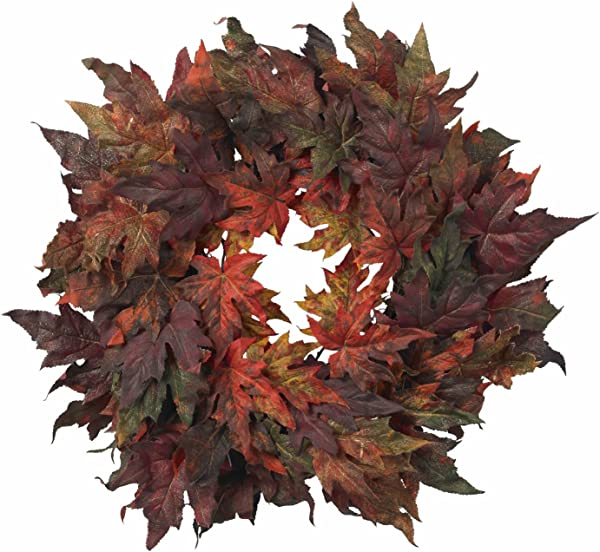 Colors Of Fall Maple Leaf Wreath 30 Great For A Fall Gift