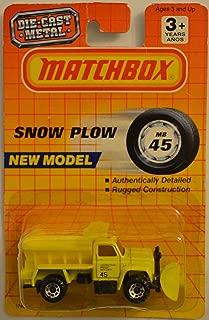 MBX Matchbox Highway Maintenance Truck Yellow Snow Plow Series 1:64 Scale Die Cast Car