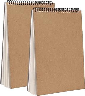 Carnet à Dessin A4 Reliure Spirale Bloc avec Couverture Rigide Papier Cartouche,160 g/m² - 30 Feuilles Carnet De Croquis P...