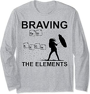 Funny Weather Geek Meteorologist Gift Idea Long Sleeve T-Shirt