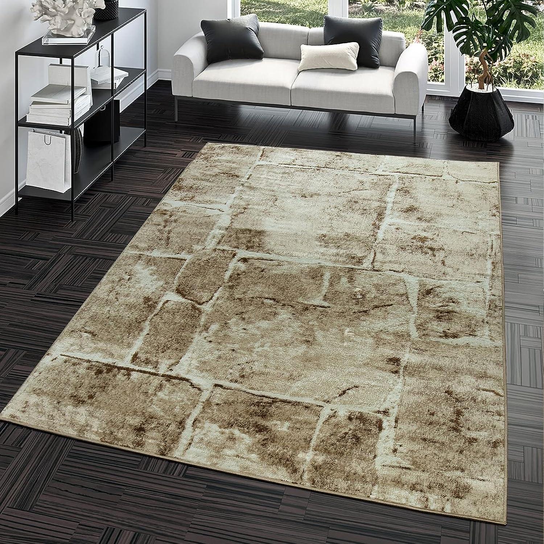 Teppich Steinboden Marmor Optik Design Modern Wohnzimmerteppich Braun Top Preis, Größe 240x340 cm B01GRVUGNQ
